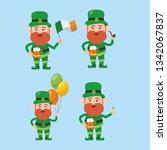 saint patrick s day cartoon... | Shutterstock .eps vector #1342067837