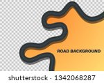 winding road on a background....   Shutterstock .eps vector #1342068287