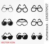sunglasses icon vector sign... | Shutterstock .eps vector #1342070927
