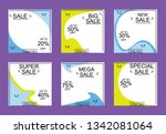 set media banners with discount ... | Shutterstock .eps vector #1342081064