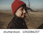 asian travel girl in the nature ... | Shutterstock . vector #1342086257