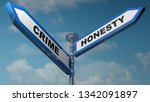 two arrow street signs to... | Shutterstock . vector #1342091897