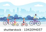 active family outside vacation... | Shutterstock . vector #1342094057