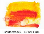 abstract colorful water color... | Shutterstock . vector #134211101