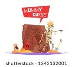 curse of pharaohs evil... | Shutterstock .eps vector #1342132001