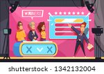 popular tv guess word game... | Shutterstock .eps vector #1342132004