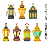 collection of ramadan candle... | Shutterstock . vector #1342159241