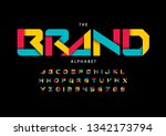 vector of stylized modern font... | Shutterstock .eps vector #1342173794