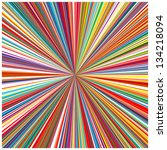 abstract art rainbow curved... | Shutterstock .eps vector #134218094