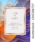 luxury wedding invitation in... | Shutterstock .eps vector #1342186727
