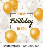 happy birthday celebration... | Shutterstock .eps vector #1342208564