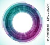 geometric frame from circles ... | Shutterstock .eps vector #1342220204