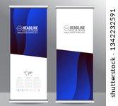 roll up business brochure flyer ... | Shutterstock .eps vector #1342232591