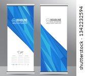 roll up business brochure flyer ... | Shutterstock .eps vector #1342232594