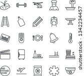 thin line icon set   departure... | Shutterstock .eps vector #1342234457