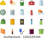 color flat icon set tool bag...   Shutterstock .eps vector #1342235144