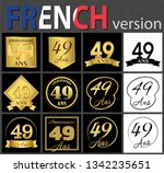 set of number forty nine years  ... | Shutterstock .eps vector #1342235651