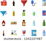 color flat icon set spice flat...   Shutterstock .eps vector #1342237487