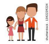 family avatar faceless cartoon | Shutterstock .eps vector #1342239224