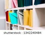 multiple piles of various... | Shutterstock . vector #1342240484