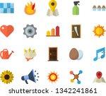 color flat icon set entrance...   Shutterstock .eps vector #1342241861