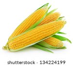 An Ear Of Corn Isolated On A...