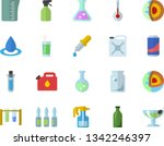 color flat icon set meashuring...   Shutterstock .eps vector #1342246397