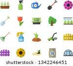 color flat icon set fertilizer...   Shutterstock .eps vector #1342246451