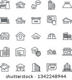 thin line icon set   office... | Shutterstock .eps vector #1342248944
