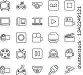 thin line icon set   ticket... | Shutterstock .eps vector #1342249121