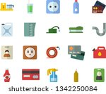 color flat icon set pipes flat...   Shutterstock .eps vector #1342250084