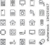 thin line icon set   calculator ... | Shutterstock .eps vector #1342251017