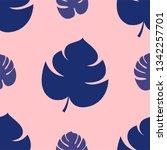 seamless monstera pattern... | Shutterstock .eps vector #1342257701