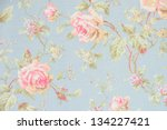 Stock photo rose fabric background 134227421