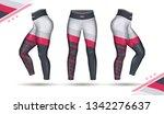 leggings pants training fashion ...   Shutterstock .eps vector #1342276637
