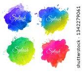 beautiful soft watercolor... | Shutterstock .eps vector #1342279061