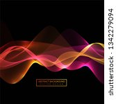 abstract colorful smoke wave... | Shutterstock .eps vector #1342279094