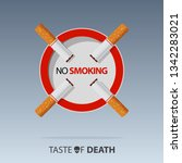 may 31st world no tobacco day.... | Shutterstock .eps vector #1342283021