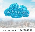 big data and cloud computing... | Shutterstock . vector #1342284851