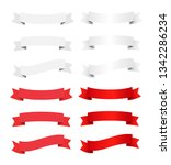 vector ribbon banners set.... | Shutterstock .eps vector #1342286234