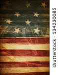 american flag background | Shutterstock . vector #134230085