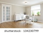 tuscany   white wooden table... | Shutterstock . vector #134230799