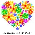 valentine heart made from... | Shutterstock .eps vector #134230811