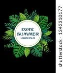 trendy summer tropical leaves... | Shutterstock .eps vector #1342310177
