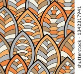 seamless abstract pattern.... | Shutterstock .eps vector #1342317941
