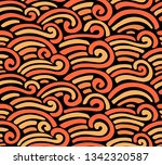 abstract sea pattern. vector... | Shutterstock .eps vector #1342320587