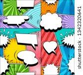 comic elegant seamless pattern... | Shutterstock .eps vector #1342320641