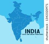 illustration of detailed map of ... | Shutterstock .eps vector #1342320971