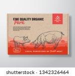 fine quality organic pork....   Shutterstock .eps vector #1342326464