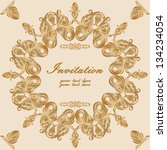 invitation card with lace... | Shutterstock .eps vector #134234054